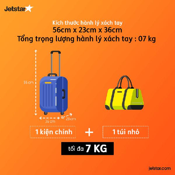kích thước vali lên máy bay jetstar