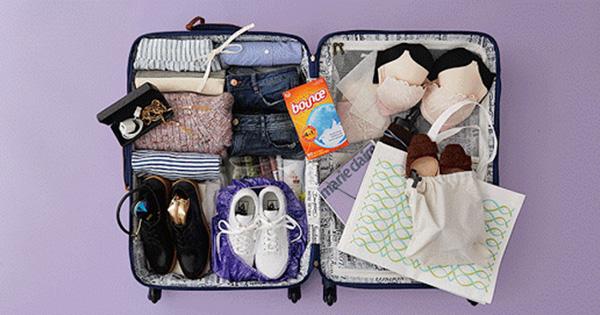 Cách xếp hành lý vào vali 5