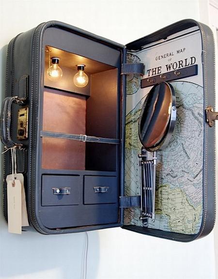 Hô biến vali cũ thành vật dụng siêu xinh 12