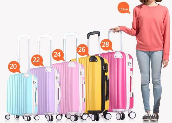 Kích thước vali kéo size 20 inch hình 2